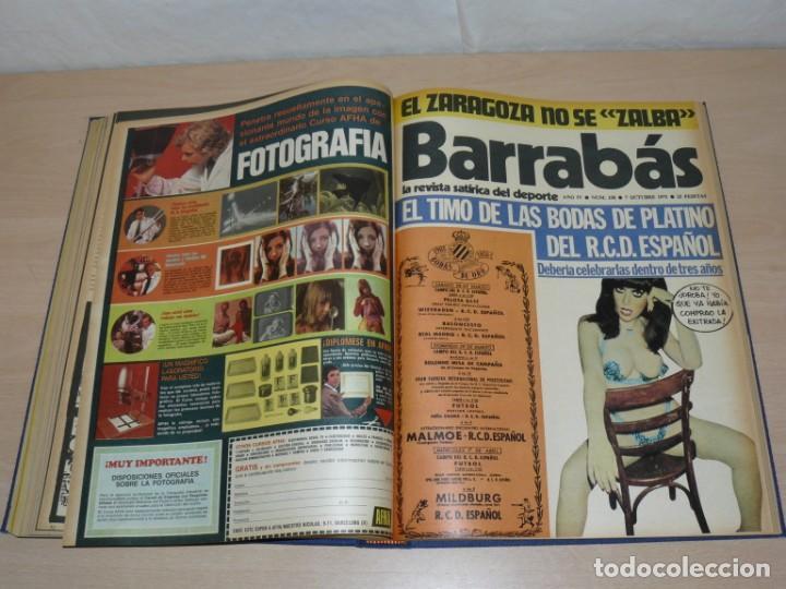 Coleccionismo deportivo: Tomo VII BARRABAS Revista Satírica de Deporte Números 144 a 166 año 1975 Barsa Madrid Atleti Español - Foto 7 - 204095756