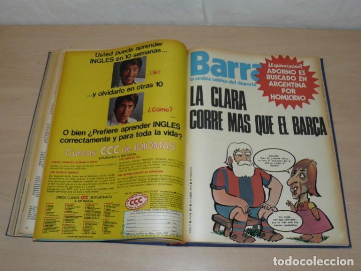 Coleccionismo deportivo: Tomo VIII BARRABAS Revista Satírica de Deporte Número 167 a 189 año 1975 Barsa Madrid Atleti Español - Foto 8 - 204095905