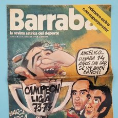 Collectionnisme sportif: BARRABAS LA REVISTA SATIRICA DEL DEPORTE 16.05.1974 BARÇA CAMPEON LIGA 73 74 CON POSTER,1973 1974. Lote 207652205