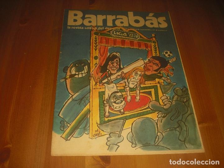 BARRABAS, LA REVISTA SATIRICA DEL DEPORTE AÑO II , N. 49 .SEPTIEMBRE 1973 . LIGA 73 74 (Coleccionismo Deportivo - Revistas y Periódicos - Barrabás)