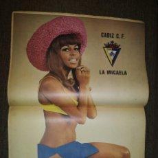 Coleccionismo deportivo: NÚMERO 30 - ABRIL 73 - PÓSTER CENTRAL: CADIZ C.F.. Lote 217288306