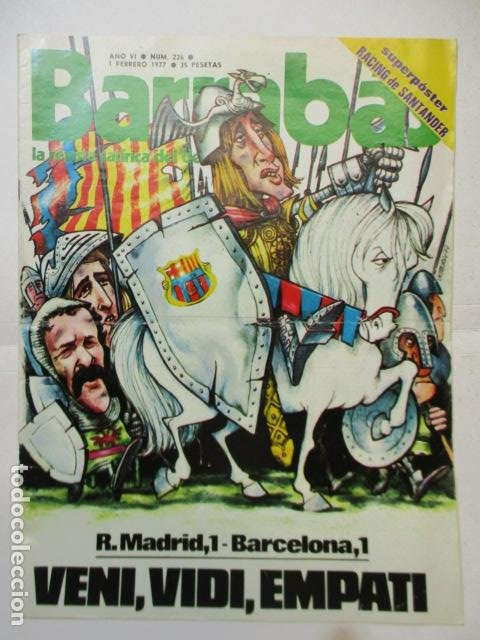 REVISTA - BARRABAS - Nº 226 - CON SUPER POSTER RACING DE SANTANDER - 1977. (Coleccionismo Deportivo - Revistas y Periódicos - Barrabás)