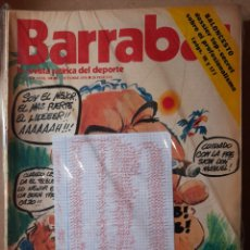 Coleccionismo deportivo: BARRABÁS REVISTA SATÍRICA DEL DEPORTE LOTE 53 REVISTAS. Lote 231764990