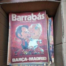 Coleccionismo deportivo: BARRABAS. LA REVISTA SATIRICA DEL DEPORTE. LOTE DE 140 REVISTAS + 2 EXTRAS. VER DESCRPCION. Lote 238458740