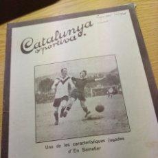 Coleccionismo deportivo: REVISTA FUTBOL CATALUNYA SPORTIVA Nº 248 20 SEPTIEMBRE 1921 EN PORTADA BARCELONA SAMETIER. Lote 240143705