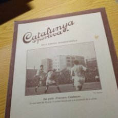 Coleccionismo deportivo: REVISTA FUTBOL CATALUNYA SPORTIVA Nº 227 265 ABRIL 1921 EN PORTADA PROVENCE CATALUNYA. Lote 240144915