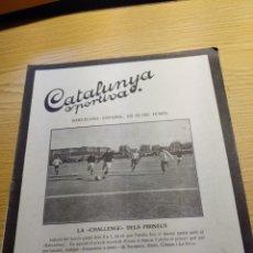 Coleccionismo deportivo: REVISTA FUTBOL CATALUNYA SPORTIVA Nº 238 12 JULIO 1921 EN PORTADA BARCELONA - ESPAÑOL. Lote 240145700
