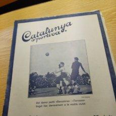 Coleccionismo deportivo: REVISTA FUTBOL CATALUNYA SPORTIVA Nº 241 2 AGOSTO 1921 EN PORTADA BARCELONA - TERRASSA. Lote 240146105