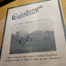 Collezionismo sportivo: REVISTA FUTBOL CATALUNYA SPORTIVA Nº 258 29 NOVIEMBRE 1921 EN PORTADA ESPAÑOL - BARCELONA. Lote 240146450