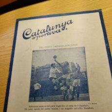 Coleccionismo deportivo: REVISTA FUTBOL CATALUNYA SPORTIVA Nº 217 15 FEBRERO 1921 EN PORTADA FRANCIA - CATALUNYA. Lote 240146790