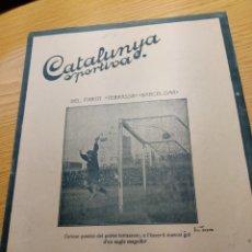 Coleccionismo deportivo: REVISTA FUTBOL CATALUNYA SPORTIVA Nº 218 22 FEBRERO 1921 EN PORTADA TERRASSA BARCELONA. Lote 240146985