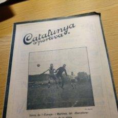 Coleccionismo deportivo: REVISTA FUTBOL CATALUNYA SPORTIVA Nº 259 6 DICIEMBRE 1921 EN PORTADA EUROPA - BARCELONA. Lote 240148360