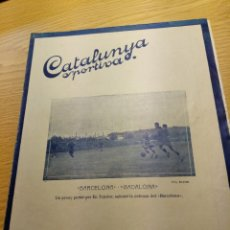 Coleccionismo deportivo: REVISTA FUTBOL CATALUNYA SPORTIVA Nº 205 16 NOVIEMBRE 1921 EN PORTADA BARCELONA BADALONA. Lote 240149200