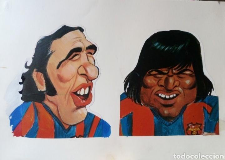Coleccionismo deportivo: BARÇA PROYECTO CARICATURAS SEPARADAS POSTER FC BARCELONA LIGA 1973-74 REVISTA BARRABAS - CRUYFF, ETC - Foto 2 - 243348205