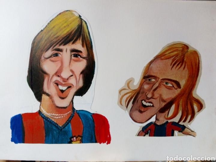 BARÇA PROYECTO CARICATURAS SEPARADAS POSTER FC BARCELONA LIGA 1973-74 REVISTA BARRABAS - CRUYFF, ETC (Coleccionismo Deportivo - Revistas y Periódicos - Barrabás)