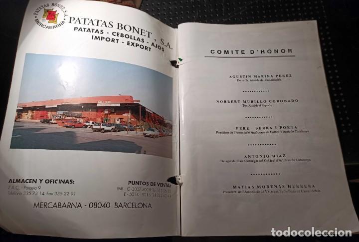 Coleccionismo deportivo: REVISTA XIX CONCENTRACIÓ DE FUTBOLISTES VETERANS, CASTELLDEFELS, 1993 - Foto 2 - 250338595