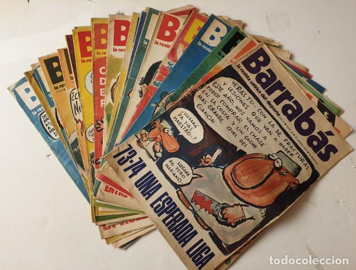 BARRABÁS, LOTE DE 22 REVISTAS. LA REVISTA SATÍRICA DEL DEPORTE. AÑOS 70 (Coleccionismo Deportivo - Revistas y Periódicos - Barrabás)