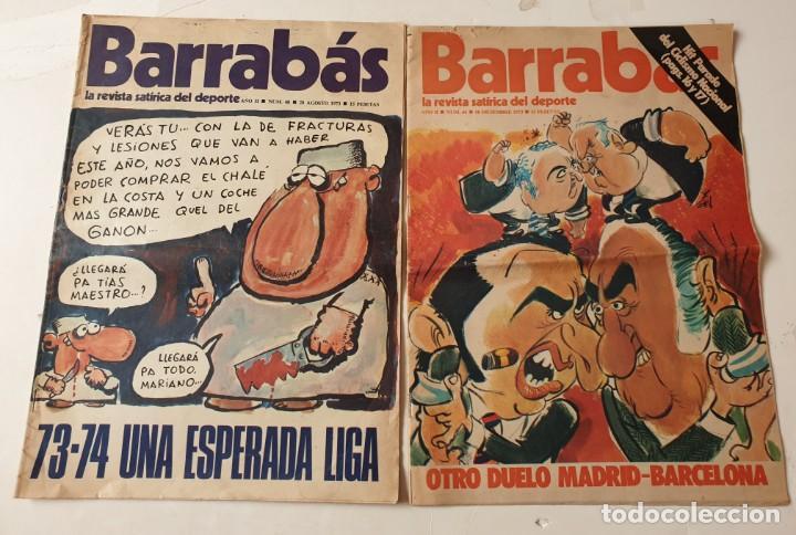 Coleccionismo deportivo: Barrabás, lote de 22 revistas. La revista satírica del deporte. Años 70 - Foto 2 - 271535718