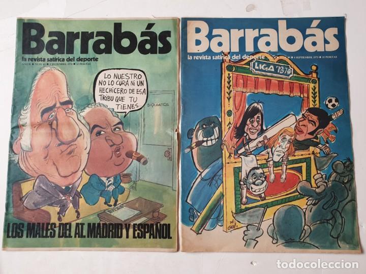 Coleccionismo deportivo: Barrabás, lote de 22 revistas. La revista satírica del deporte. Años 70 - Foto 3 - 271535718
