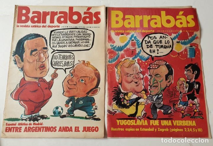 Coleccionismo deportivo: Barrabás, lote de 22 revistas. La revista satírica del deporte. Años 70 - Foto 4 - 271535718