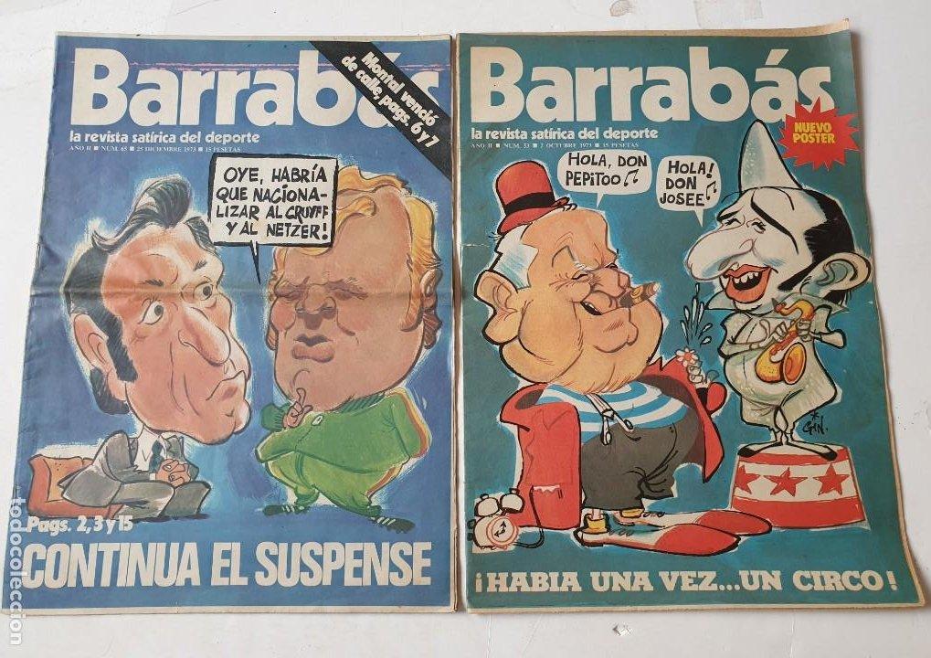 Coleccionismo deportivo: Barrabás, lote de 22 revistas. La revista satírica del deporte. Años 70 - Foto 5 - 271535718