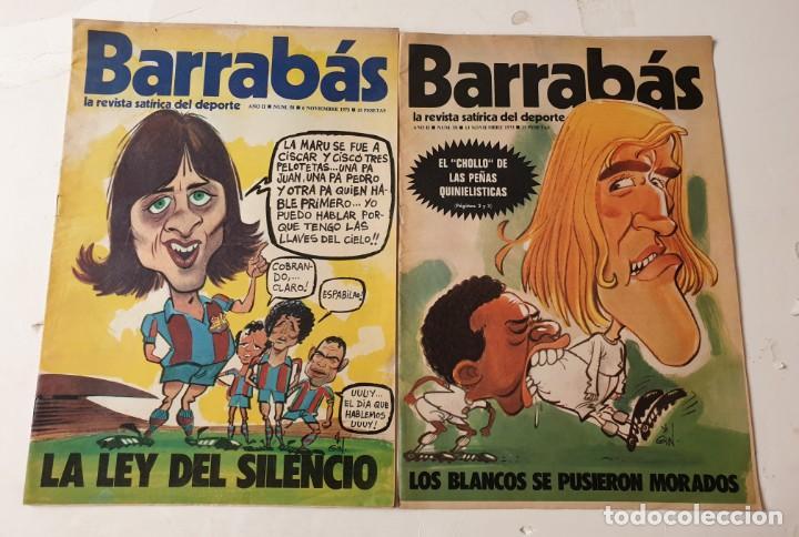 Coleccionismo deportivo: Barrabás, lote de 22 revistas. La revista satírica del deporte. Años 70 - Foto 6 - 271535718