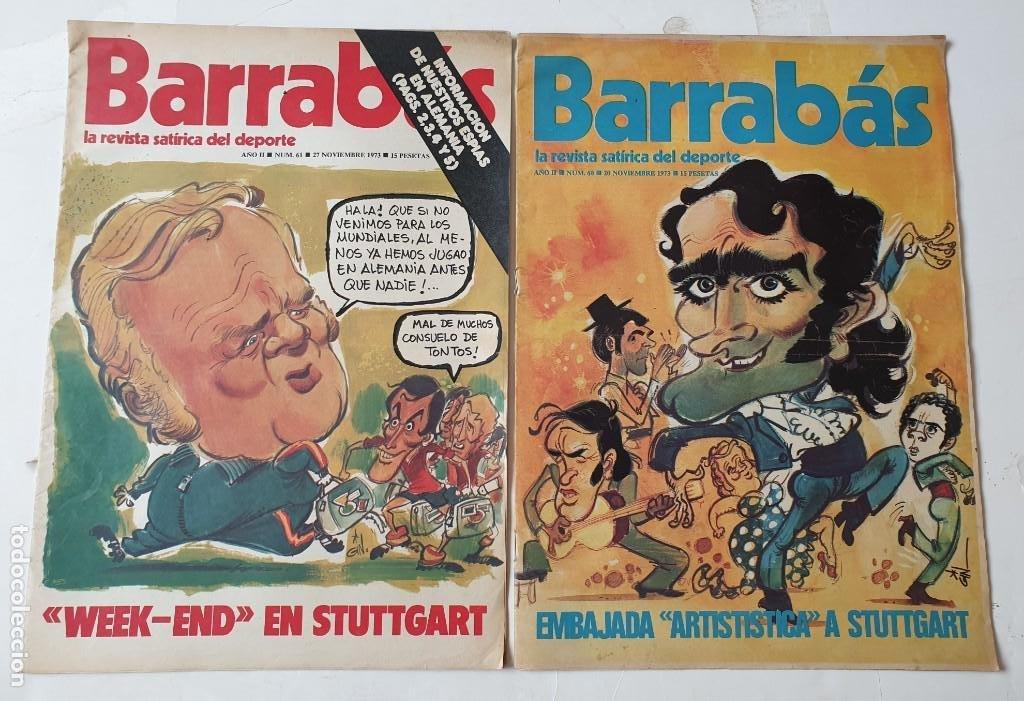 Coleccionismo deportivo: Barrabás, lote de 22 revistas. La revista satírica del deporte. Años 70 - Foto 7 - 271535718