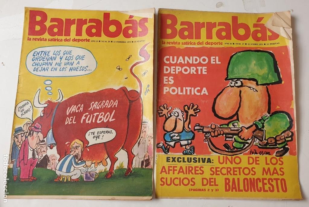Coleccionismo deportivo: Barrabás, lote de 22 revistas. La revista satírica del deporte. Años 70 - Foto 8 - 271535718