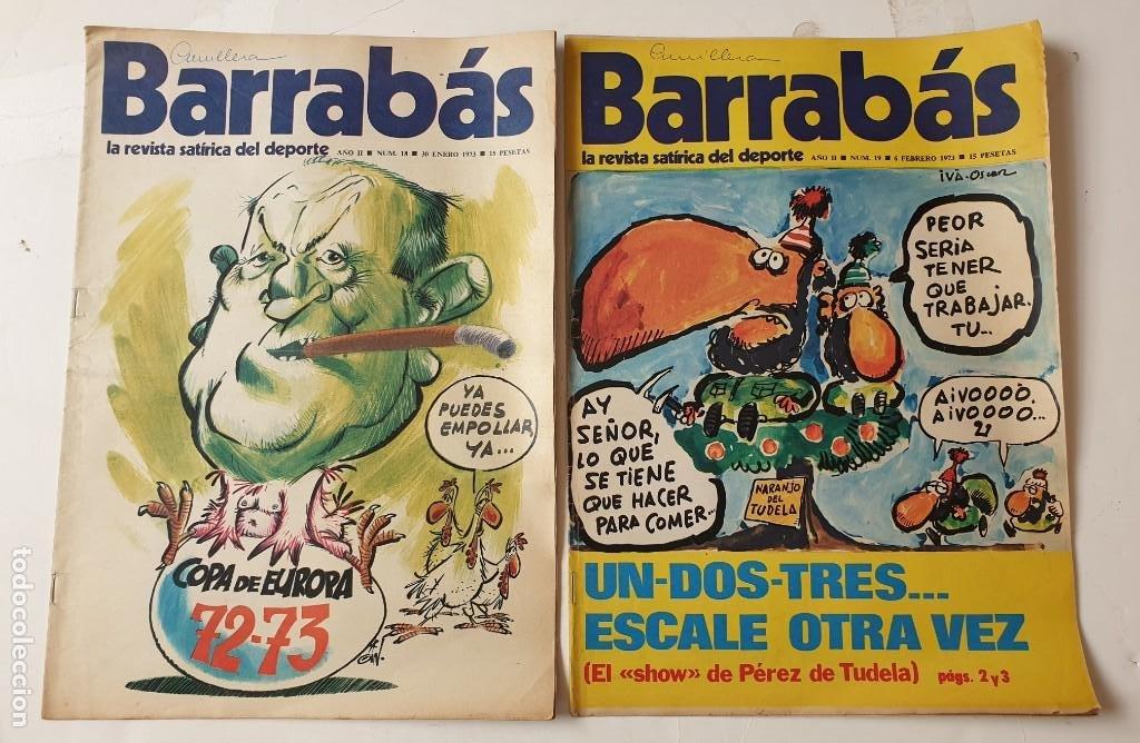 Coleccionismo deportivo: Barrabás, lote de 22 revistas. La revista satírica del deporte. Años 70 - Foto 9 - 271535718
