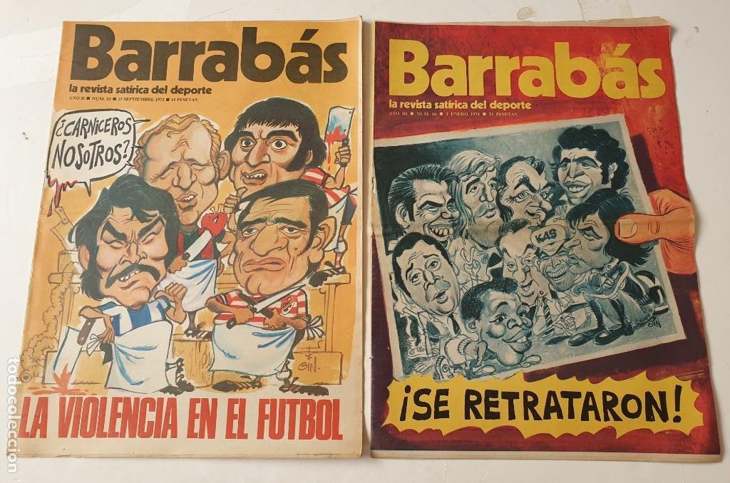 Coleccionismo deportivo: Barrabás, lote de 22 revistas. La revista satírica del deporte. Años 70 - Foto 10 - 271535718