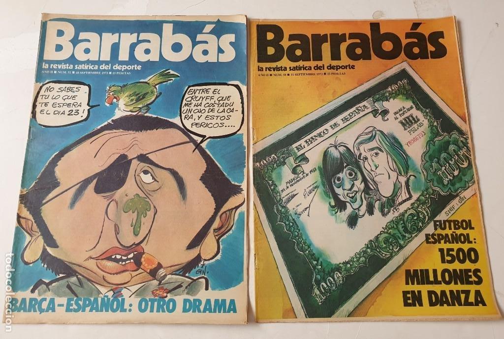 Coleccionismo deportivo: Barrabás, lote de 22 revistas. La revista satírica del deporte. Años 70 - Foto 11 - 271535718
