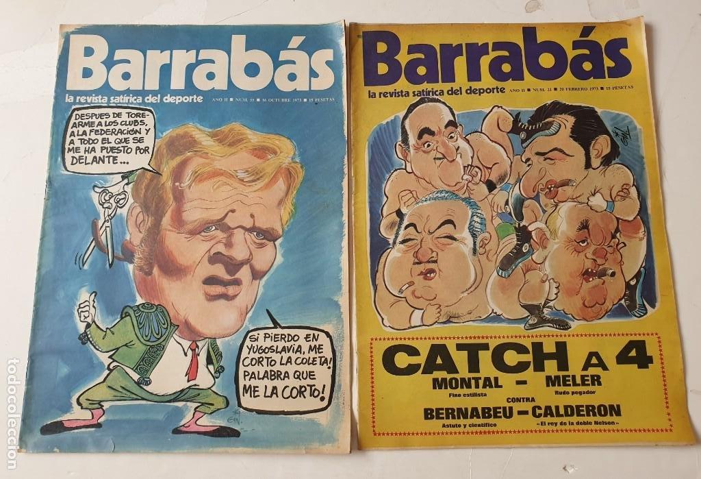 Coleccionismo deportivo: Barrabás, lote de 22 revistas. La revista satírica del deporte. Años 70 - Foto 12 - 271535718