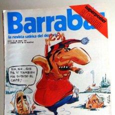 Coleccionismo deportivo: REVISTA BARRABÁS Nº223 ENERO 1977. PÓSTER ATLÉTICO DE MADRID - DEPORTES FÚTBOL - HUMOR SATÍRICA. Lote 272422248