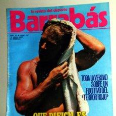 Coleccionismo deportivo: REVISTA BARRABÁS Nº237 ABRIL 1977. PÓSTER ÁNGEL NIETO MOTOCICLISMO MOTOS. DEPORTES FÚTBOL - HUMOR. Lote 272423698