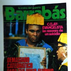 Coleccionismo deportivo: REVISTA BARRABÁS Nº242 MAYO 1977. PÓSTER SELECCIÓN ESPAÑOLA ESPAÑA. FÚTBOL. BOXEO C.CLAY. HUMOR. Lote 272424443