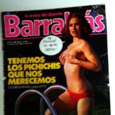 Coleccionismo deportivo: REVISTA BARRABÁS Nº240 MAYO 1977. PÓSTER BOXEO CASIUS CLAY. FÚTBOL. HUMOR - SATÍRICA. CHICAS. Lote 272424938