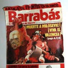 Coleccionismo deportivo: REVISTA BARRABÁS Nº157 AÑO 1975. PÓSTER RCD ESPAÑOL ESPANYOL 75 ANIVERSARIO FÚTBOL. HUMOR SATÍRICA.. Lote 272425823