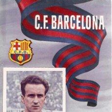 Coleccionismo deportivo: PROGRAMA PARTIDO C.F.BARCELONA - VALLADOLID 1955. Lote 5362706