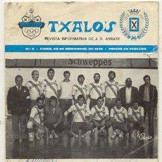 Coleccionismo deportivo: REVISTA TXALOS Nº 2 NOVIEMBRE 1978 // J.D.ARRATE DE EIBAR /// INTERIOR POSTER DEL ARRATE BALONMANO. Lote 23624110