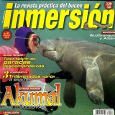 Collezionismo sportivo: REVISTA INMERSION. REVISTA PRÁCTICA DE BUCEO. Nº 27 (VER CONTENIDO EN FOTOGRAFIA). Lote 7299723