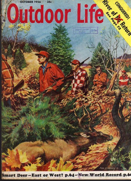 REVISTA DE CAZA Y PESCA OUTDOOR LIFE - OCTOBER 1956 - EN INGLES (Coleccionismo Deportivo - Revistas y Periódicos - otros Deportes)