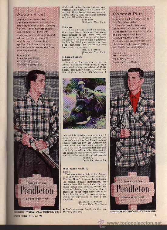 Coleccionismo deportivo: REVISTA DE CAZA Y PESCA SPORTS AFIELD - NOVEMBER 1956 - EN INGLES - Foto 5 - 10884292