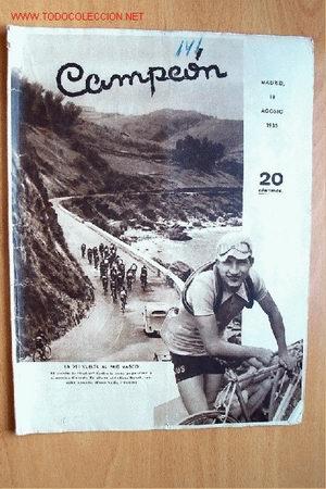 CAMPEÓN, REVISTA DE DEPORTES. Nº 141. 18 AGOSTO 1935 (Coleccionismo Deportivo - Revistas y Periódicos - otros Deportes)