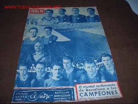 REVISTA HOLA -BARÇA- AÑO 1952 (Coleccionismo Deportivo - Revistas y Periódicos - otros Deportes)