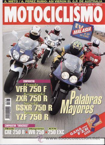 Revista Motociclismo Nº 1363 Año 1994 Comp Ho Buy Old Sport
