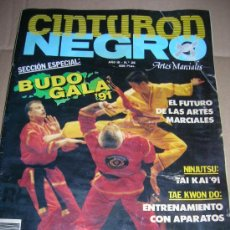 Coleccionismo deportivo: REVISTA DE ARTES MARCIALES: CINTURON NEGRO. AÑO III - Nº 28. BUDO GALA 91. TAI TAI 91. TAE KWON DO... Lote 22893981
