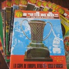 Coleccionismo deportivo: LOTE DE 18 REVISTAS DE BASKET REBOTE Y SON DEL AÑO 1973 -74 -75- 76 . Lote 15870298