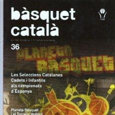 Coleccionismo deportivo: BASQUET CATALA MARÇ 2008 . Lote 24044780