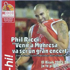 Coleccionismo deportivo: REVISTA - RICOH MANRESA Nº7 JUNY 2005 . Lote 24044779