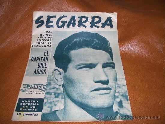 BARÇA- SEGARRA EL CAPITAN DICE ADIOS- (Coleccionismo Deportivo - Revistas y Periódicos - otros Deportes)